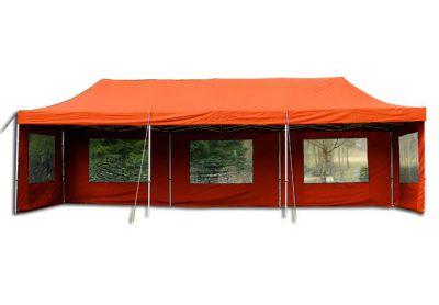 Összecsukható kerti sátor PROFI 3 x 9 m - terrakotta