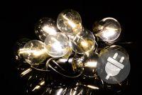 Kerti LED világítás - 5 m meleg fehér