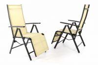 Kerti összecsukható székek RELAX 2 db - bézs