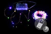 LED világítás réz huzal NEXOS 10m/100 LED - színes