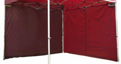 Két oldalfal PROFI kerti sátorhoz 3 x 3 m - bordó