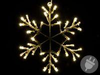 Karácsonyi LED hópehely 30cm/36x LED - meleg fehér