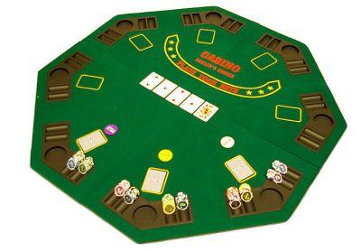 Kihajtható nyolcszögletű póker asztallap