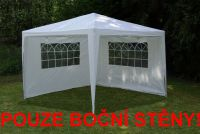 Két oldalfal kerti sátorhoz - fehér