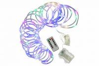 Karácsonyi fényfüzér NEXOS 10m/100x miniLED - színes
