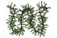 Karácsonyi girland NEXOS 270cm/200x LED - sötétzöld