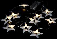 Karácsonyi LED világítás 20 LED - meleg fehér csillagok