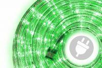LED fénykábel 10 m - zöld, 240 dióda