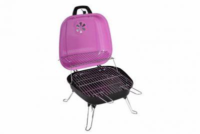 Faszenes hordozható grillsütő Garth - rózsaszín