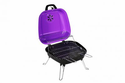 Faszenes hordozható grillsütő Garth - lila