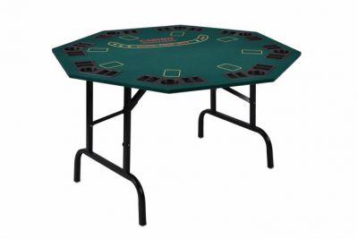 Összecsukható pókerasztal - 8 személyes, pohártartóval