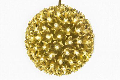 Karácsonyi dísz - LED  fénygömb - meleg fehér