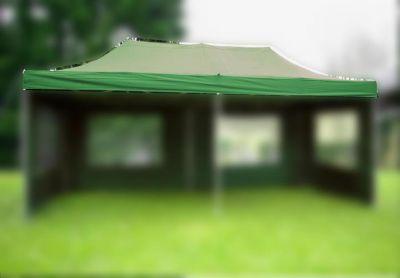 Tartalék tető összecsukható sátorhoz - 3 x 6 m - zöld