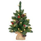 Karácsonyfa világítással 20 LED - 45 cm