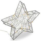 Karácsonyi csillag 3D - 25 LED ezüst