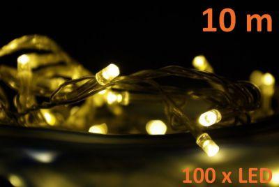 Karácsonyi fényfüzér NEXOS 10m/100x LED - meleg fehér