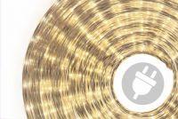 Világító kábel 20 m - meleg fehér, 720 mini izzó