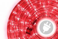 LED fénykábel 10 m - piros, 240 dióda