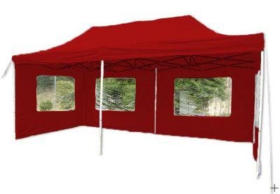Összecsukható kerti sátor PROFI 3 x 6 m - piros