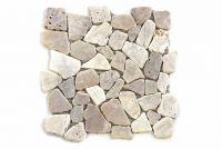 Mozaik folyamkavics - krémszínű felület 1 drb Garth