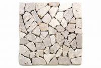Mozaik burkolat DIVERO® 1db - márvány, fehér