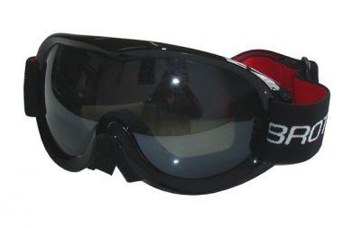 Síszemüveg felnőtteknek - dupla üvegezés - fekete