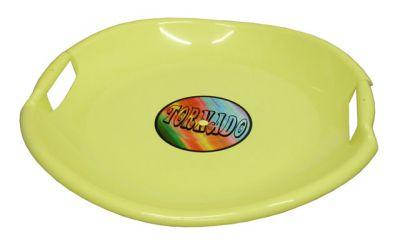 Tornádo szánkó tányér sárga