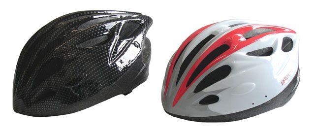 Kerékpáros sisak fehér/fekete méret M