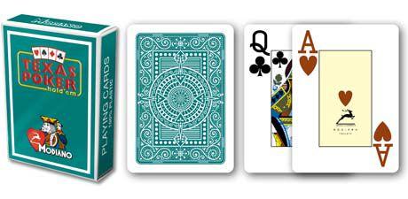 Modiano 2 sarok 100% műanyag kártyák - Zöld