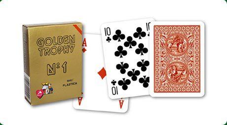 Kártya pakli Modiano Golden Trophy - vörös hátlap