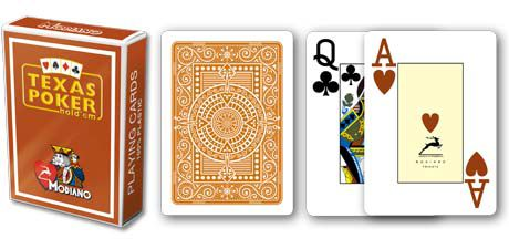 Modiano 2 sarok 100% műanyag kártyák - Barna