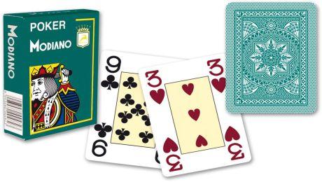 Modiano 4 sarok 100% műanyag kártya - Zöld