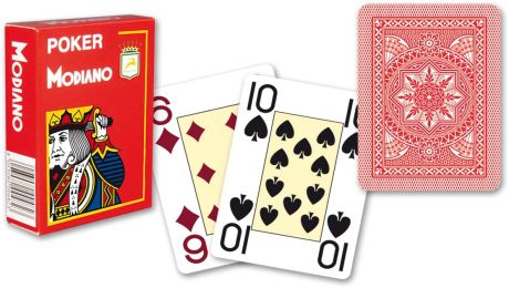 Modiano 4 sarok  100% műanyag kártyák - Piros