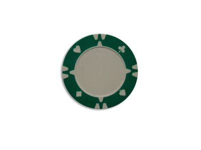 Darabos zseton design Flop zöld - 1 db