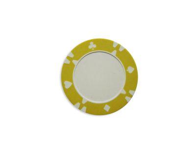 Darabos zseton design Flop sárga - 1 db