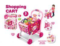 Gyerek bevásárló kosár G21 tartozékkal - rózsaszín