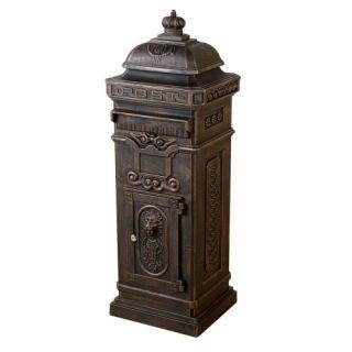 Hagyományos antik postaláda TUIN - sötét sárgaréz