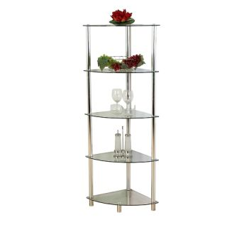 Üveg sarok polc STILISTA® Noble - átlátszó