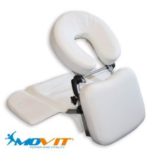 Hordozható masszázs fejtámasz MOVIT® - fehér