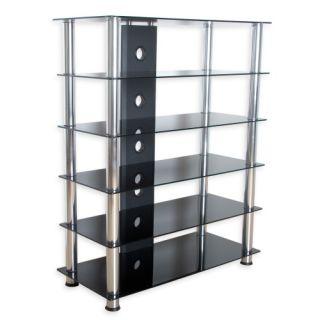 Üveg TV asztal TUIN - fekete