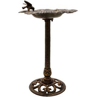 Öntöttvas madáretető - bronz