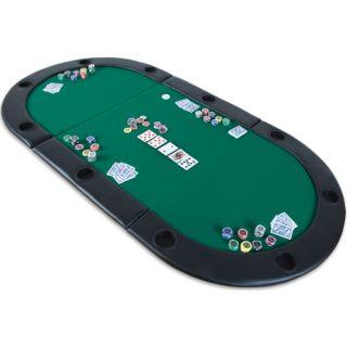 Kihajtható póker asztallap TUIN - zöld