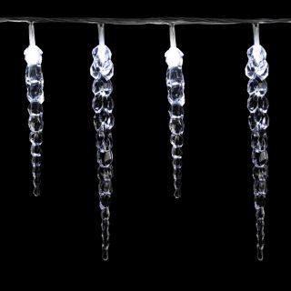 Karácsonyi dekoratív világítás -jégcsapok - 40 LED hideg fehér