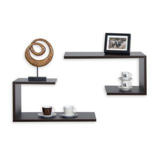 Készlet fali polcokkal Spicciolo  STILISTA sorozatból, barna-fekete