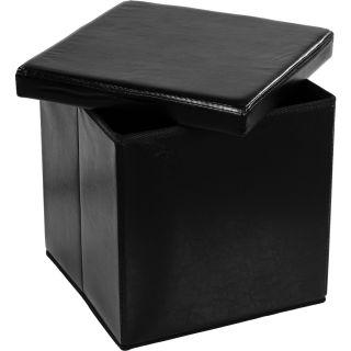 Összecsukható zsámoly tároló STILISTA® - fekete