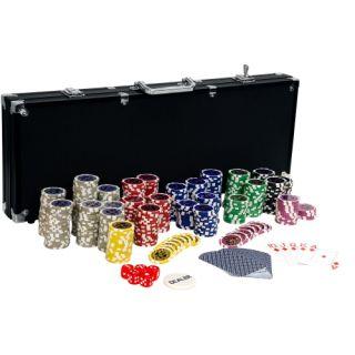 Póker készlet ULTIMATE BLACK - 500 db zseton
