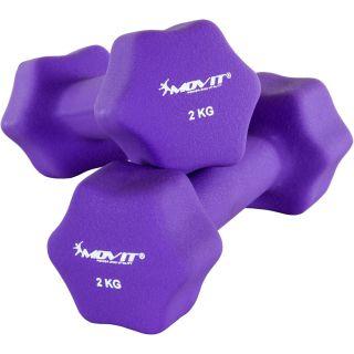 Egykezes súlyzó szett MOVIT® 4 kg - lila