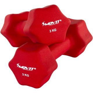 Egykezes súlyzó szett MOVIT® 6 kg - piros