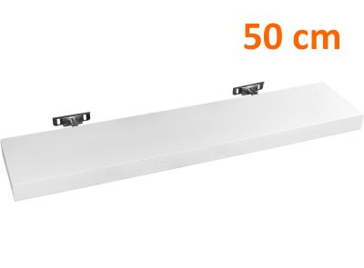 Fali polc  STILISTA SALIENTO - fehér 50 cm