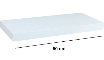 Fali polc STILISTA VOLATO - fehér 50 cm